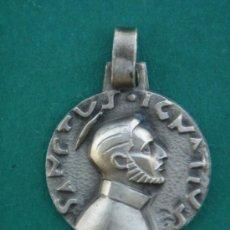 Antigüedades: MEDALLA RELIGIOSA EN PLATA CONTRASTADA -S. IGNATIUS (IGNACIO)-. 1,7 CMS DE DIÁMETRO.. Lote 32828364