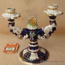 Antigüedades: CANDELABRO DE PORCELANA. Lote 32834047