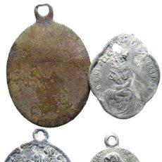 Antigüedades: LOTE DE 4 MEDALLAS ANTIGUAS.. Lote 32845943