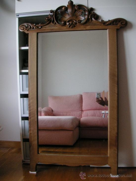 espejo con marco de madera tallado siglo xix comprar