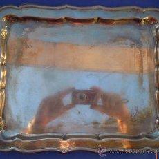 Antigüedades: BANDEJA PLATEADA DE 34CM. POR 25CM.. Lote 32866219