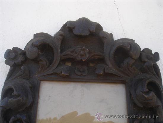 Antigüedades: marco para fotografias madera tallada - Foto 2 - 32869662