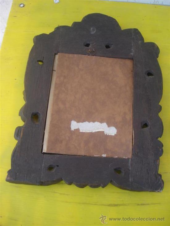 Antigüedades: marco para fotografias madera tallada - Foto 3 - 32869662