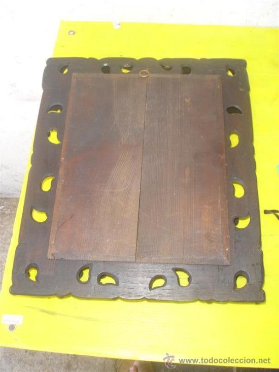 Antigüedades: marco para fotografias madera tallada - Foto 2 - 32869689