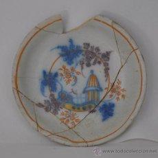 Antigüedades: LOZA DE TRIANA DEL SIGLO XVIII. PLATO DE MEDALLÓN CIRCULAR.. Lote 32875257