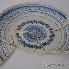 Antigüedades: LOZA DE TRIANA DEL SIGLO XVIII-XIX. FUENTE.. Lote 32875543