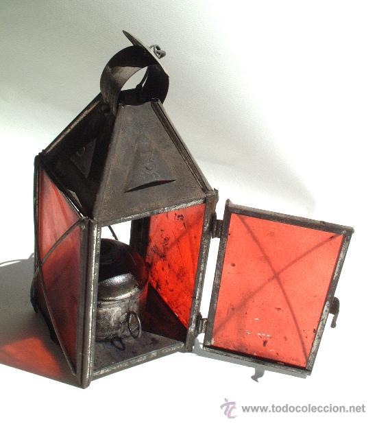Antiguo candil rojo comprar utensilios del hogar for Utensilios del hogar