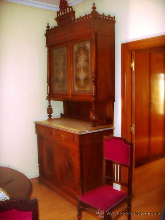Aparador antiguo nogal dos piezas y marmol to comprar for Recoger muebles