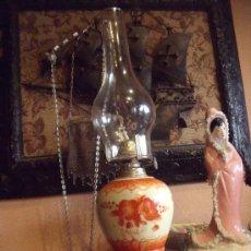 Antigüedades: PRECIOSO QUINQUEL EN CERAMICA SELLADO VICTORIA WARE . Lote 32905119