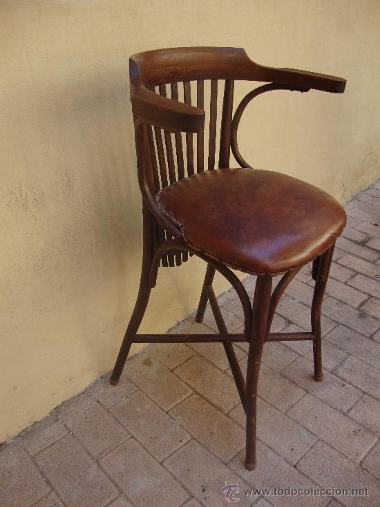 Antiguo taburete de madera o silla de bar comprar - Sillas antiguas de segunda mano ...