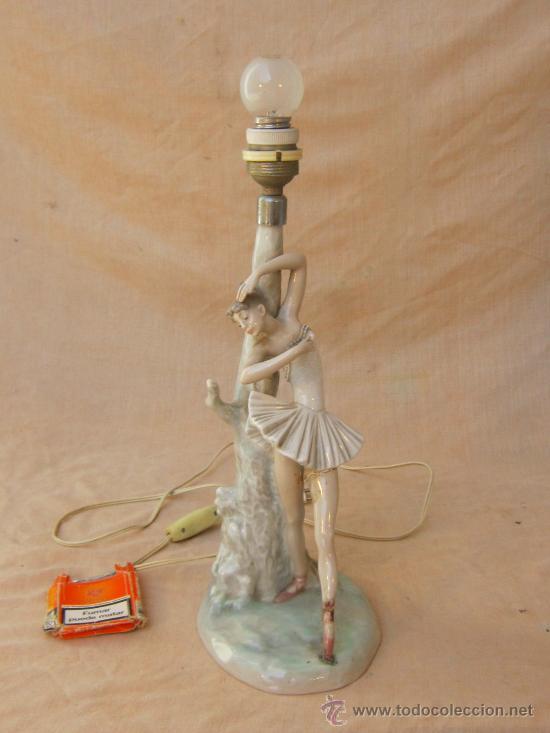 DE MESA porcelana de BAILARINALAMPARA en lladró Y6gf7by
