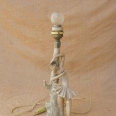 Antigüedades: BAILARINA, LAMPARA DE MESA EN PORCELANA DE LLADRÓ. Lote 32957849