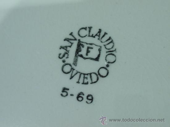 Antigüedades: SEIS PLATOS SAN CLAUDIO SERIGRAFIADOS - ROSAS - Foto 5 - 32962736
