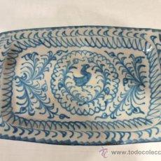 Antiquités: DOS BANDEJAS - CERÁMICA DE GRANADA MONOCOLOR. Lote 32963670