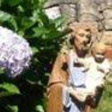 Antigüedades: ANTIGUO SAN JOSÉ CON EL NIÑO DE LAS ARTES RELIGIOSAS OLOT. 55 CM. Lote 32966341