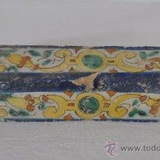 Antigüedades: ALÍZAR PLANO POLÍCROMO. SIGLO XVIII. TRIANA (SEVILLA). Nº 1. Lote 32989862