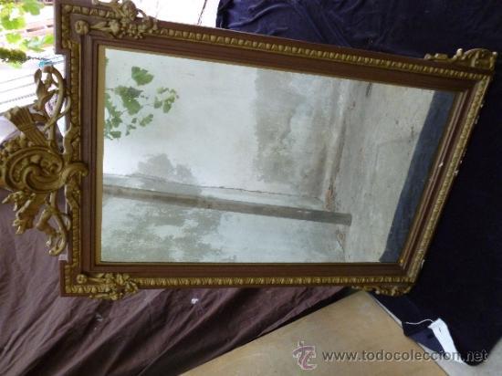 antigedades espejo marco madera y filigranas x foto