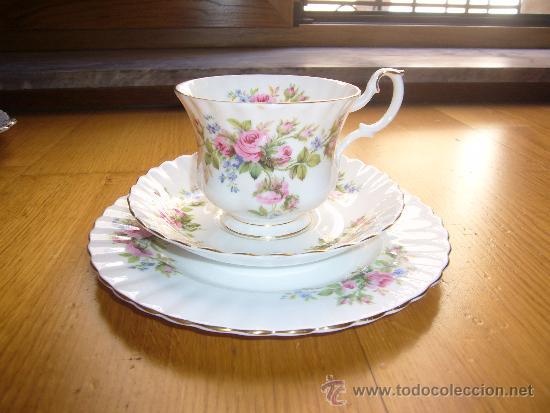 Precioso trio taza y dos platos porcelana ingle comprar - Porcelana inglesa antigua ...