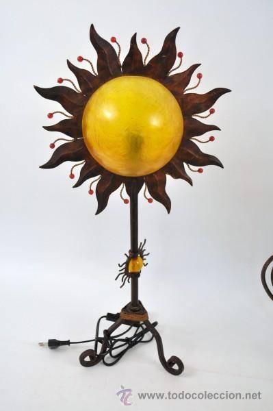 de soly Sold Lampara forma hierro mesa de de forja oQBdxeWrC
