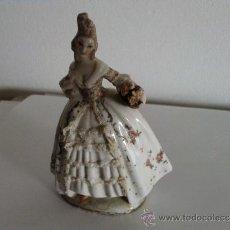 Antigüedades: FIGURA EN PORCELANA BISCUIT.MIDE 11 CMS.ANTIGUA. Lote 33038566