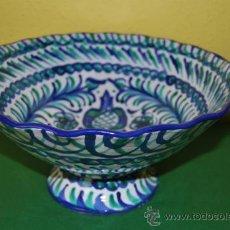 Antigüedades: GRAN FRUTERO DE CERÁMICA GRANADINA VIDRIADA - FAJALAUZA - GRANADA. Lote 33055290