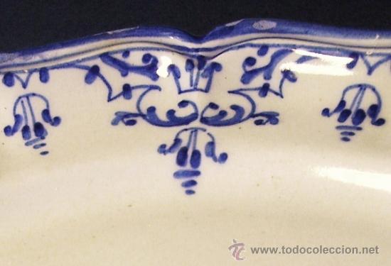 Antigüedades: PLATO CERAMICA MANISES TIPO ALCORA - Foto 3 - 33057934