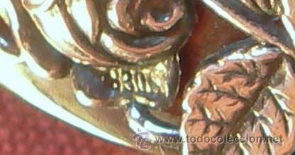 Antigüedades: ANTIGUA PEINETA O PEINA CON APLICACION DE PLATA CON MARCAS - Foto 5 - 33071853