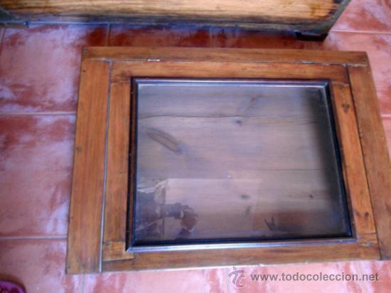 Antigüedades: EXPOSITOR ANTIGUO REALIZADO EN MADERA PINO-TRANSPORTE INCLUIDO ESPAÑA - Foto 4 - 33079548