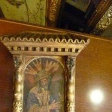 Antigüedades: CAPILLA CON CRISTO. Lote 33114488