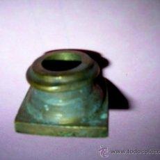 Antigüedades: CAPITEL METAL ANTIGUO BARGUEÑO BASE COLUMNA DE PUERTA. MED.2,8 BASE X1,2 ALTO.CM.ENVÍO PAGO.. Lote 33115168