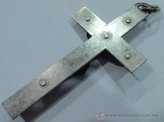 Antigüedades: CRUCIFIJO COLGANTE DE ROSARIO - Foto 3 - 33122075
