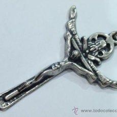 Antigüedades: CRUCIFIJO COLGANTE DE ROSARIO. Lote 33122216