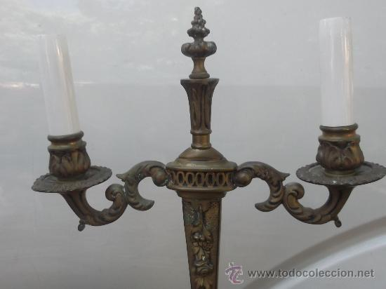 Antigüedades: pareja candelabros imperio - Foto 4 - 33128820