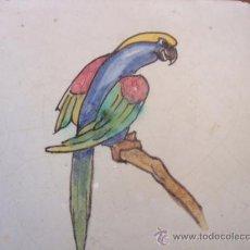 Antigüedades: AZULEJO LORO MONTALVAN (TRIANA). Lote 33141684