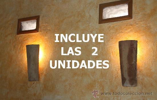 Apliques de pared rusticos perfect lampara aplique pared - Apliques rusticos pared ...