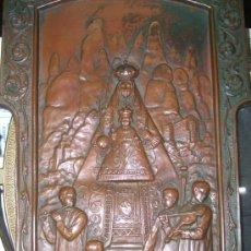 Antigüedades: PLACA DE BRONZE ( MONTSERRAT ) MUY ANTIGUA - ORIGINAL - . Lote 33152924