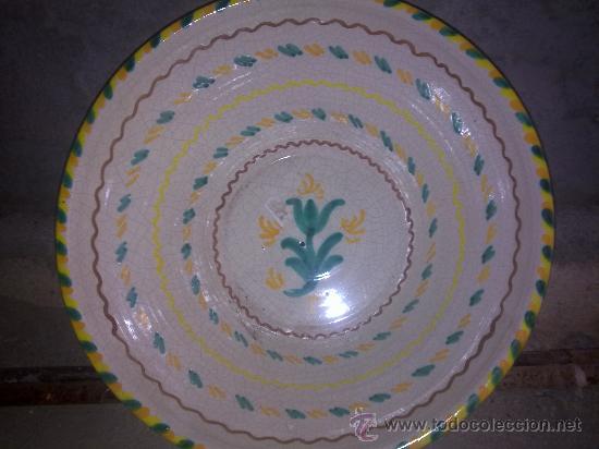 PRECIOSO LEBRILLO DE CERAMICA DE FAJALAUZA, PINTADO A MANO. (Antigüedades - Porcelanas y Cerámicas - Fajalauza)