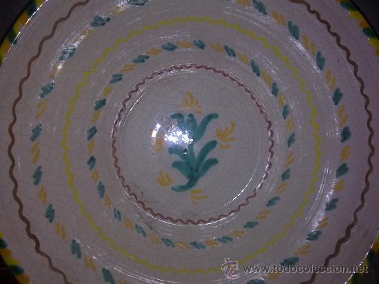 Antigüedades: precioso lebrillo de ceramica de fajalauza, pintado a mano. - Foto 2 - 33183803