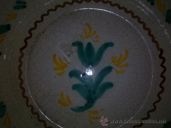 Antigüedades: precioso lebrillo de ceramica de fajalauza, pintado a mano. - Foto 3 - 33183803