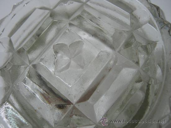 Antigüedades: antiguo jarron cristal prensado boca grande - altura 16 cm. - - Foto 4 - 33213875