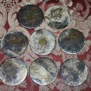 Antigüedades: LOTE DE 8 REPOSAVASOS INGLESES EN METAL - MEDIANOS DEL S.XX. Lote 33235726