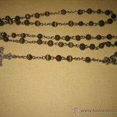 Antigüedades: ROSARIO DE PIEDRA VERDE . Lote 33238111