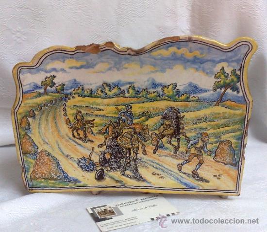 Antigüedades: NIVEIRO.- CERAMICA DE TALAVERA , ORGANIZADOR DE MESA/ ESCRIBANIA - Foto 9 - 109541080
