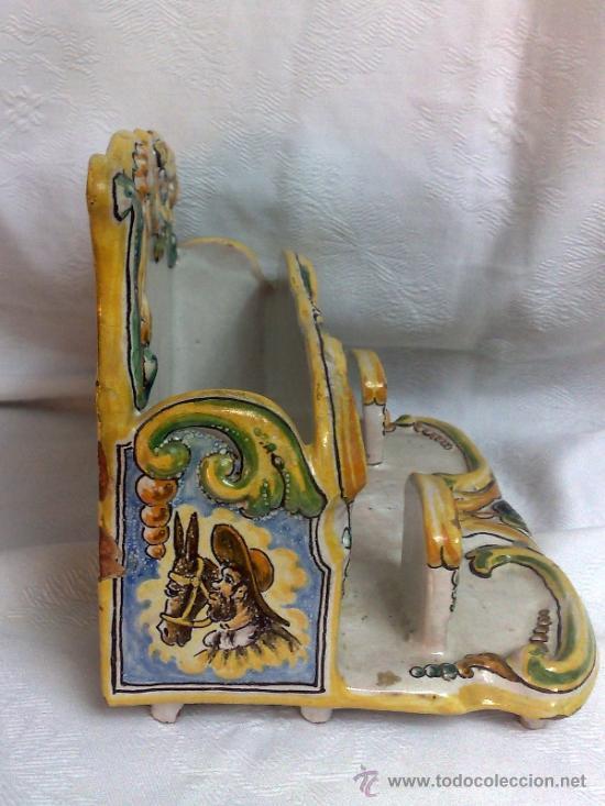Antigüedades: NIVEIRO.- CERAMICA DE TALAVERA , ORGANIZADOR DE MESA/ ESCRIBANIA - Foto 15 - 109541080