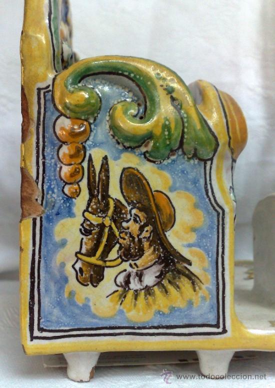 Antigüedades: NIVEIRO.- CERAMICA DE TALAVERA , ORGANIZADOR DE MESA/ ESCRIBANIA - Foto 7 - 109541080