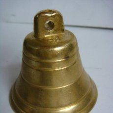 Antigüedades: CAMPANA EN BRONCE Nº-3 CON UN BONITO SONIDO . Lote 33280241