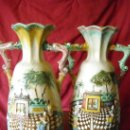Antigüedades: FANTASTICA PAREJA DE JARRONES VALENCIANOS. Lote 33288919