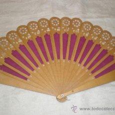 Antigüedades: ABANICO MADERA TELA . Lote 33290151