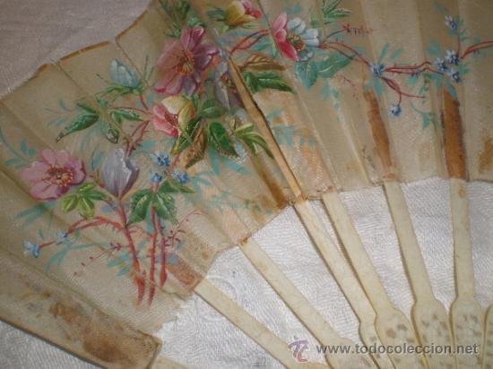 Antigüedades: ABANICO VARILLAJE DE HUESO - Foto 11 - 33290030