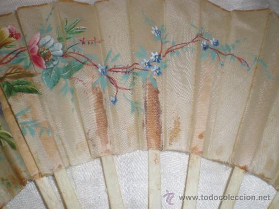 Antigüedades: ABANICO VARILLAJE DE HUESO - Foto 10 - 33290030